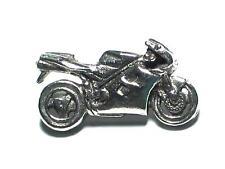 Motorbike pewter pin badge, Racing bike, Motorsports