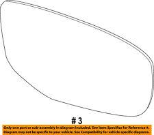 Dodge CHRYSLER OEM 13-16 Dart Door Rear Side View-Mirror Glass Right 68188634AA