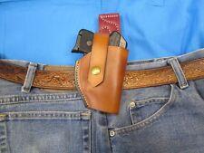 Leather Holster for Ruger .380 LCP w/ Crimson Trace Laserguard Spring Belt Clip