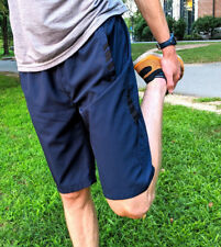 Men's Lightweight Running Shorts Zip Pockets Quick Drying Breathable