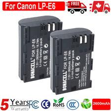 2x LP-E6 Replacement Battery Pack For Canon 5D 6D 7D 60D 60Da Mark II III Camera