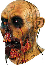 Halloween Costume DETAILED DECAYED ZOMBIE TONGUE LATEX MASK Haunted House NEW