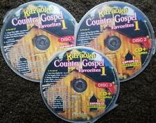 COUNTRY GOSPEL FAVORITES 3 CDG SET CHARTBUSTER HITS KARAOKE 50 SONGS CD+G 5102