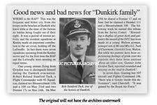 WALTON SURREY BOB TUCK HERO PILOT TRIBUTE DUNKIRK 1940 VINTAGE IMAGE MOUNTED