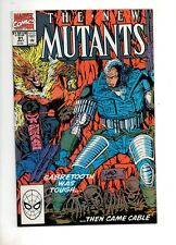 New Mutants #91 CABLE vs. SABRETOOTH COVER & STORY by Liefeld; NM+ 9.6 1990! 87