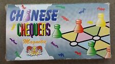 """Magnetic Travel Chinese Checkers Pocket Game 5"""" x 5"""" Folding Board 2 - 4 Players"""