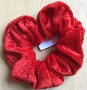 A Red Velvet Hair Scrunchie Ponytail Band / Bobble