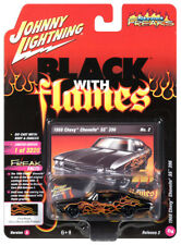 Johnny Lightning Chevrolet Chevelle SS396 1968 Black with Flame JLCP7100 1/64