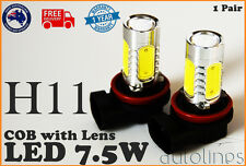 2x H11 7.5W LED COB CREE Lens 12V Headlight Super White Fog Lamp Globe Bulb HID