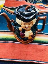 Shorter & Son Toby Teapot, Vintage Staffordshire Two Faced Toby Jug Teapot