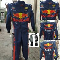Red Bull Printed  Race Suit CIK FIA Level 2 Approved  with free gift Gloves