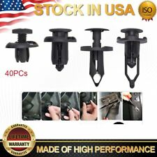 40X Black Car Plastic Rivet Bumper Fender Retainer Fastener Mud Flaps Push Clips