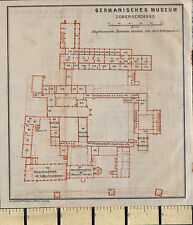1925 GERMAN MAP ~ GERMAN MUSEUM PLAN ~ GERMANISCHES OBERGESCHOSS FLOOR PLAN