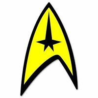 "Star Trek Badge Vinyl Decal Sticker 2.5"""