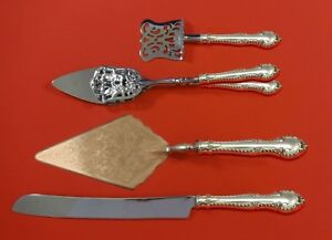 English Gadroon by Gorham Sterling Silver Dessert Serving Set 4 pc Custom Made