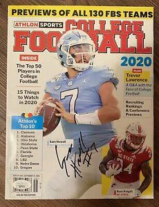 Sam Howell Signed Athlon Sports College Football 2020 Magazine UNC Cover-JSA COA
