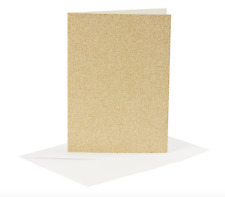 A6 Gold Sparkly Card Making Blank Cards & Envelopes Pack of 4