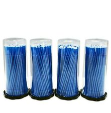 400 (4 Kegs) Blue Micro Brush Lash Tools Regular Tips, USA Seller