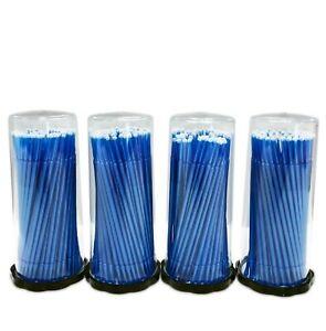 400 (4 Kegs) Blue Micro Brushes Regular Tips, Lash Tools Brush Makeup Eyelash