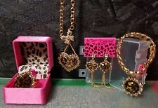 Betsey Johnson Authentic Leopard Jewelry Set (4 PCS), NWT and NWOT