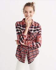 NWT Abercrombie & Fitch Women's Mixed Plaid Button-Up Shirt (Size: XS)