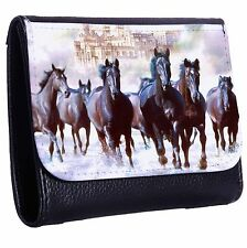 All The King's Horses Tri-Fold Wallet w/ Button Pocket