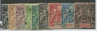 MARTINIQUE #33-40, 43 MINT & USED