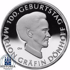 Deutschland 10 Euro Marion Gräfin Dönhoff 2009 Silber-Gedenk-Münze Spiegelglanz