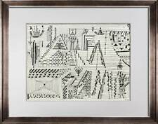 "Paul KLEE Lithograph SIGNED ""Beride .. [1927]"" w/ Frame Included"