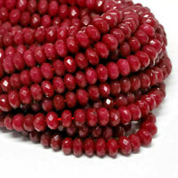Ruby Red Faceted  Gemstones  8 x 5 mm  Best Quality Loose Drilled Beads