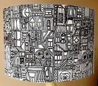 Mandala Lampshade,black and white,owls,light shade, mono FREE GIFT