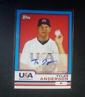 Tyler Anderson 2010 Topps Chrome Team USA Blue Border Auto Rockies