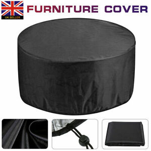 Black Furniture Cover Round Waterproof Large Outdoor Home Table And Chair Cover