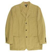 Tommy Bahama Island Soft Mens Sport Coat Jacket Sz XXL Thick Cotton Tan Unlined