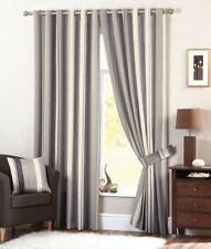 Rideaux gris avec des motifs Rayé pour la maison