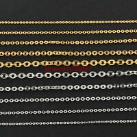 "16-30"" Women's Silver/Gold Wholesale Stainless Steel Strong Rolo O Necklace Hot"