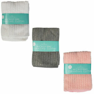 3 x Microfibre Face Cloths Washcloth Makeup Remover Cleansing Face Towel Flannel