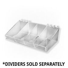 Count of 4 New Retails 13 Inch Large Clear Acrylic Divider Bin