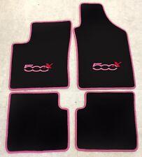 Autoteppich Fußmatten Teppich für Fiat 500x ab 2014' pink rot 4teilig Neuware