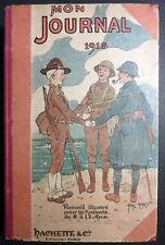 Mon journal 1918 Reliure 52 numéros Ed. Hachette TBE