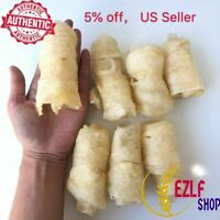 8oz-1LB 100% Dried Large Fish Maw, 花胶粒(大), 花胶卷,花膠粒, US Seller, Fast Shipping