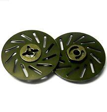 57822lt 1/10 RC M12 12mm roue en alliage adaptateurs avec frein à disque titane 38mm x 2