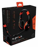 STEALTH RAPTOR GAMING HEADSET + MIC CONTROL * PLAYSTATION 4 XBOX ONE SWITCH PS4