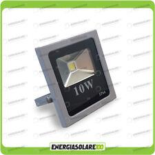 Faro LED SLIM 10W 12V 24V IP66 luce bianca fredda per esterno per impianti fotov
