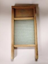 "Vintage Columbus Washboard Company 18"" Glass Lingerie Washboard Home Aide"