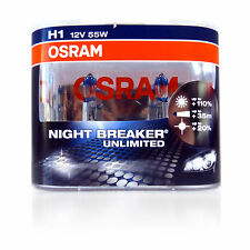 OSRAM New! - H1 Night Breaker Unlimited (Pair)  110% PLUS Improvement