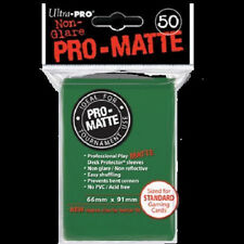 Ultra Pro Deck Protector Sleeves - Standard Sized - Pro- Matte Green (100 Count)
