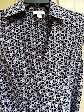 ANN TAYLOR LOFT 2 XS Black White embroidery A Line Dress Cap Slv Career Cocktail