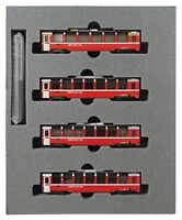 KATO N gauge railroad Bernina express 4-car set 10-1319