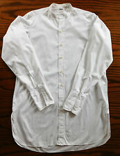 Vintage white tunic shirt for day wear collar size 15.5 Budd vintage 1950s 1960s